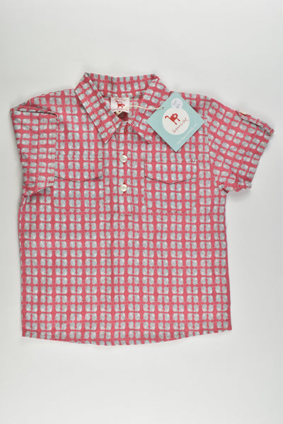 NEW La Queue Du Chat (France) Size 5 Organic and Fair Trade Collared Shirt