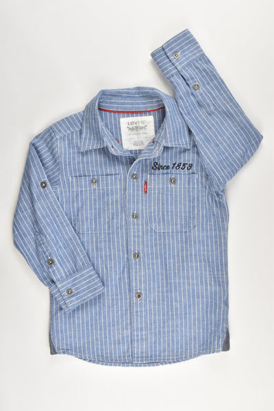 NEW Levi's Size 4 Collared Soft Denim Shirt
