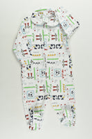 NEW Little Loves By Anuello Size 0 Farm Animals Footed Romper