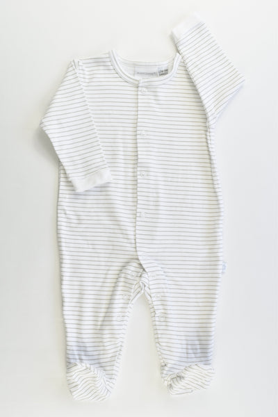 NEW Marquise Size 00 (3-6 months) Striped Footed Romper