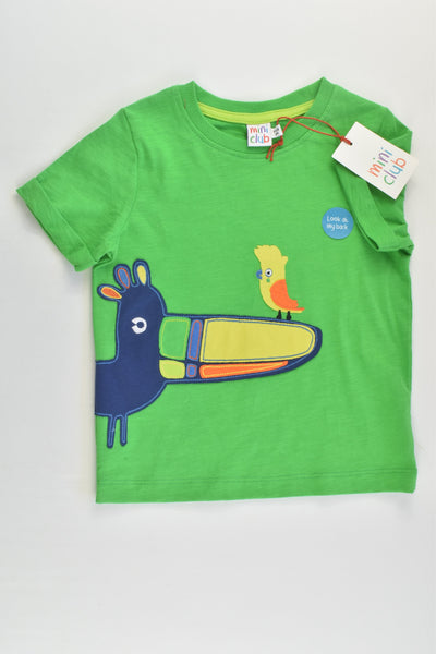 NEW Mini Club Size 2 (86-92 cm) Bird T-shirt