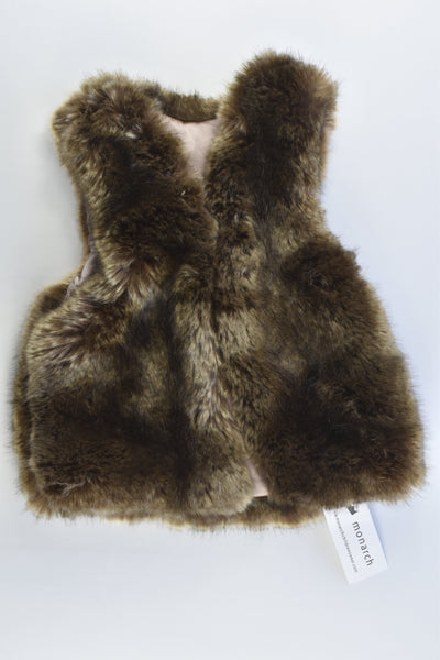 NEW Monarch (New Zealand) Size 3-4 years Faux Rabbit Fur Vest