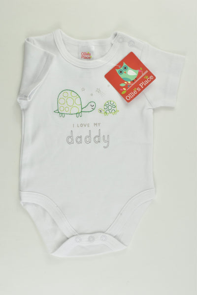 NEW Ollie's Place Size 000 (0-3 months) 'I Love My Daddy' Bodysuit