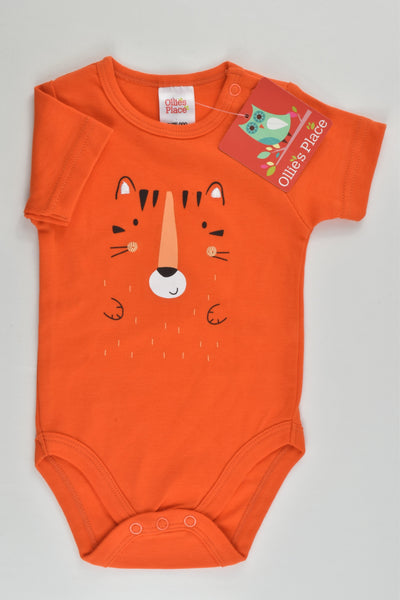 NEW Ollie's Place Size 000 (0-3 months) Tiger Bodysuit