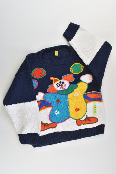 NEW Peruvian Handmade Size 4 Thick Clown Cotton Jumper