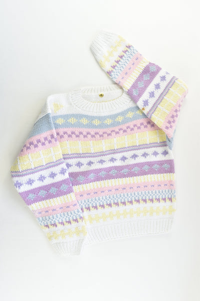 NEW Peruvian Handmade Size 6 Thick Cotton Jumper
