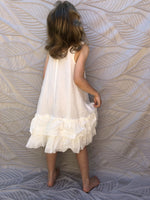 NEW Pinch and Spoon Silk/Cotton Ra-Ra Back Dress Nude