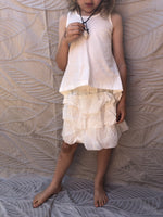 New Pinch and Spoon Silk/Cotton Ra-Ra Skirt Nude