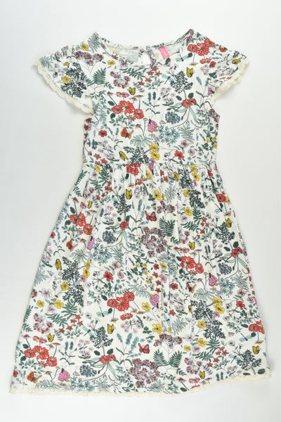 NEW Pink & Blue Size 6/7 Flowers and Butterflies Dress