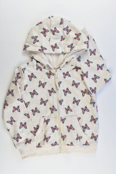 NEW Primark Size 4-5 (110 cm) Butterflies Hooded Jumper