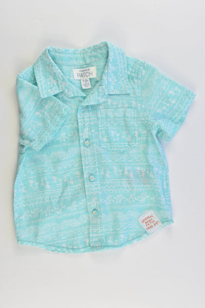 NEW Pumpkin Patch Size 00 (3-6 months) Sea Turtles and Puffins Collared Shirt
