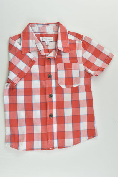NEW Pumpkin Patch Size 1 (12-18 months) Checked Shirt