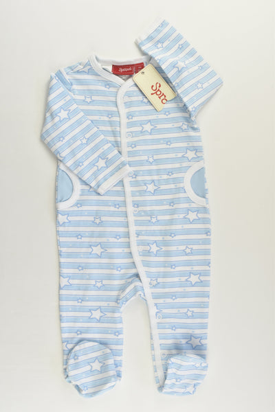 NEW Sprout Size 000 Stars Footed Romper