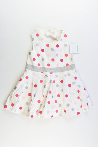 NEW Vertbaudet (France) Size 1-2 (2 years, 86 cm) Lined Polka Dots Dress