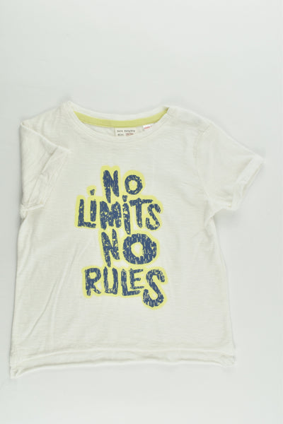 NEW Zara Size 2 (18/24 months, 92 cm) 'No Limits, No Rules' T-shirt