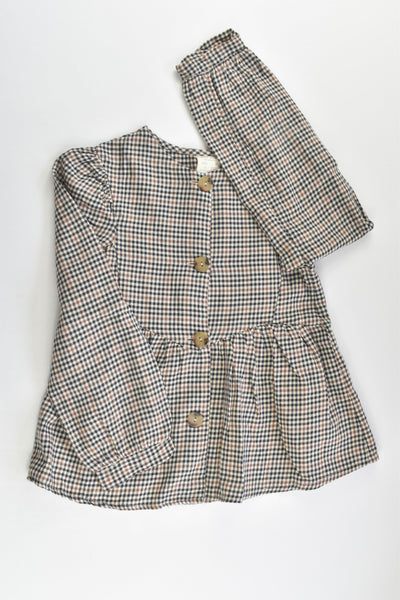 NEW Zara Size 7 (122 cm) Checked Blouse