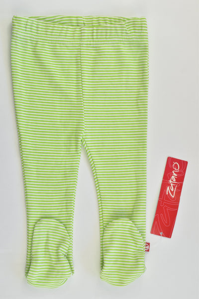 NEW Zutano Size 00 (6 months) Striped Footed Pants