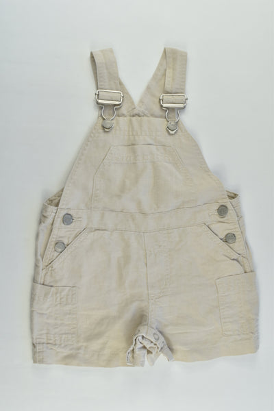Next Size 00 (3-6 months) Linen/Cotton Short Overalls