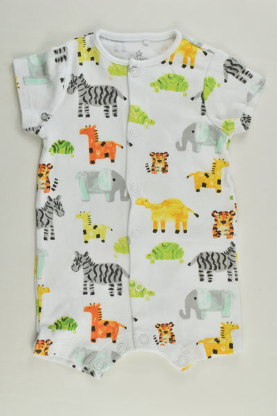 Next Size 000 (Up to 3 months) Cute Animals Short Romper