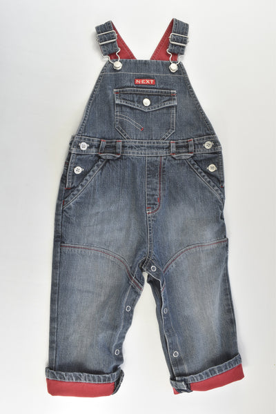Next Size 1 (12-18 months) Denim Overalls