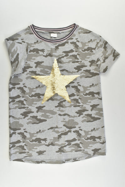 Next Size 10 Camouflage Reversible Sequins Star T-shirt
