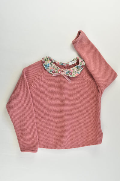 Next Size 2-3 (98 cm) Knitted Jumper with Floral Collar