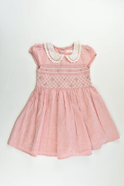 Next Size 2-3 (98 cm) Lined Smocked Dress