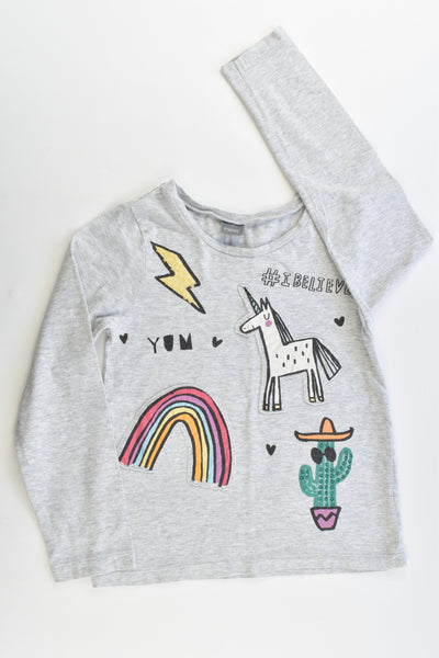 Next Size 5-6 Unicorn, Cactus and Rainbow Top