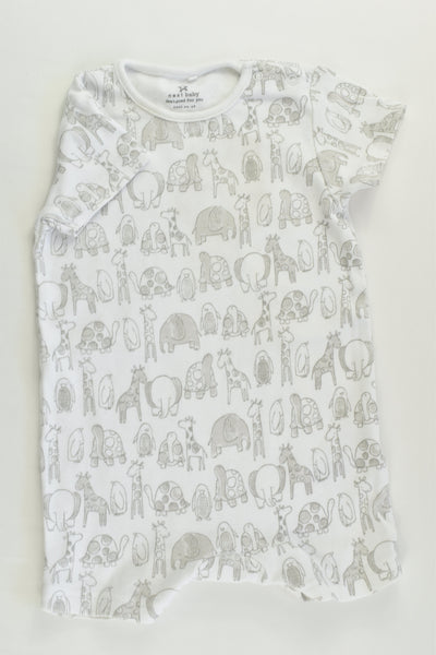 Next (UK) Size 00 (3-6 months) Animals Short Romper