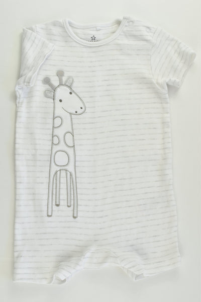 Next (UK) Size 00 (3-6 months) Giraffe Short Romper