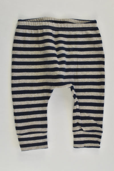 Next (UK) Size 00 (3-6 months) Striped Ribbed Pants