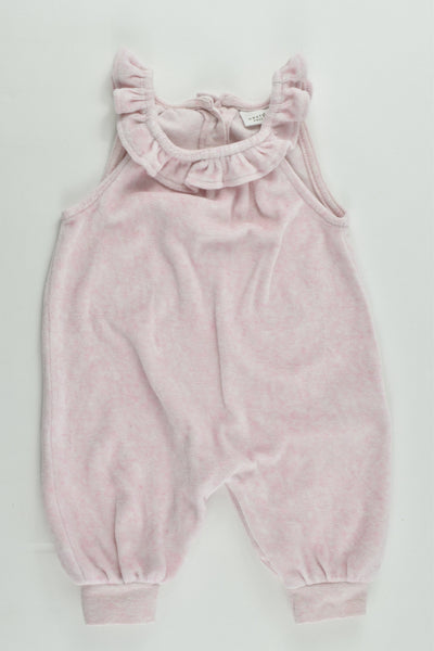 Next (UK) Size 000-000 (Up to 1 months, 56 cm) Velour Overalls