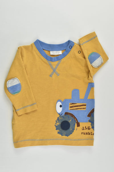 Next (UK) Size 000 (Up to 3 months) 'Dig, Rumble' Top