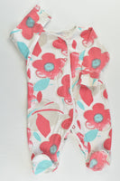 Next (UK) Size 000 (Up to 3 months) Floral Footed Romper