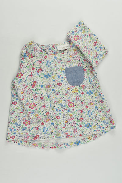Next (UK) Size 0000 (Up to 1 months) Liberty Print Top