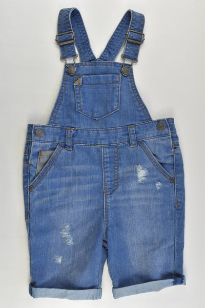 Next (UK) Size 2-3 (98 cm) Short Denim Overalls