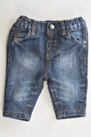 Next (UK) Size Up to 1 month Lined Denim Pants