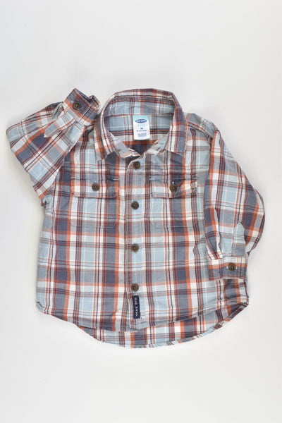 Old Navy Size 6-12 months Collared Casual Shirt