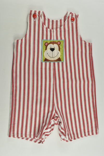 Oli B Designs Size approx 00 Handmade Striped Short Overalls