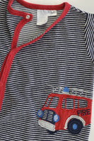 Ollie's Place Size 0 Fire Engine Footed Velour Romper