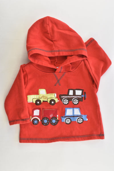 Ollie's Place Size 00 (3-6 months) Vehicles Hooded Jumper