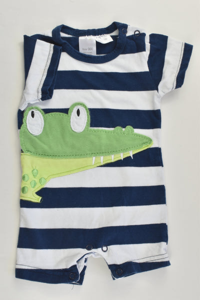 Ollie's Place Size 000 Alligator Short Romper