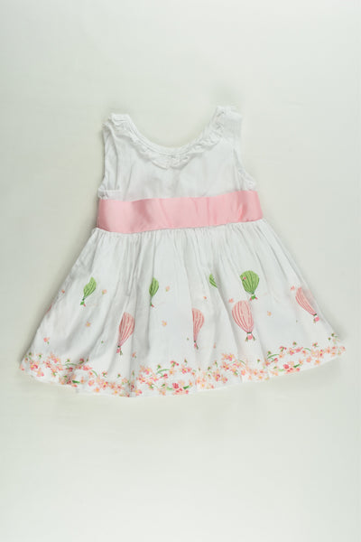 Ollie's Place Size 0000 (0-3 months) Lined Hot Air Balloons Dress