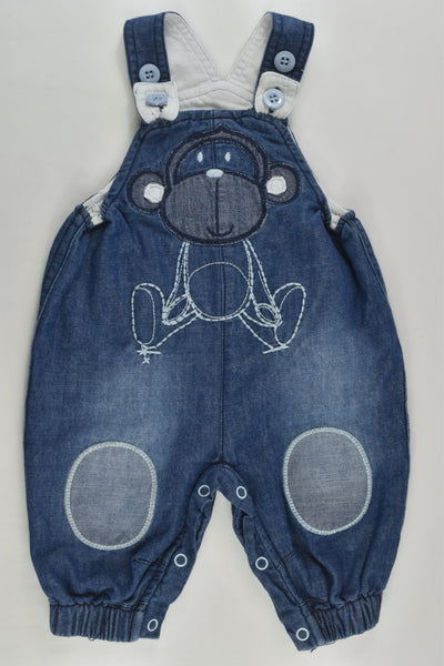 Ollie's Place Size 0000 Lined Soft Monkey Denim Overalls