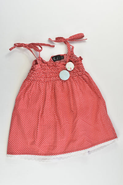Oobi Size 2/3 Polka Dots Dress