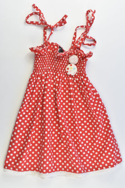 Oobi Size 3/4 Polka Dots Dress