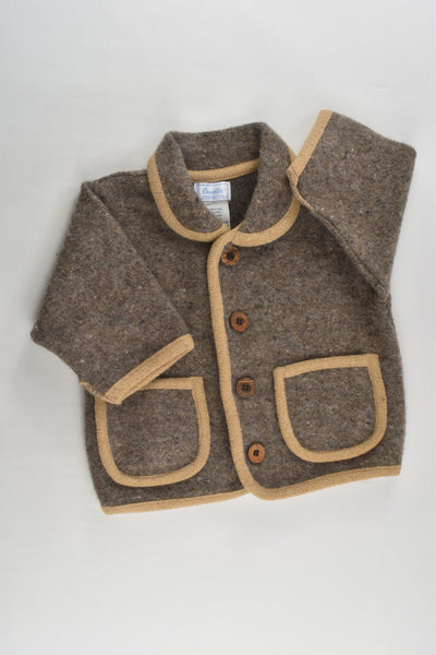 Ornella (Italy) Size 0 (9 months) Dogs and Snow Wool Jacket