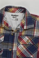 OshKosh Size 7 Casual Checked Shirt