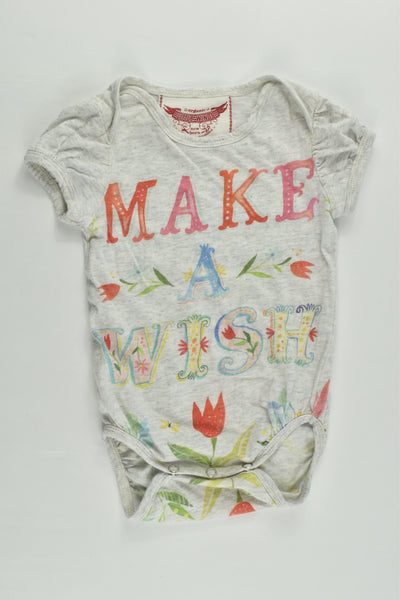 Paper Wings Size 000 (Newborn) 'Make A Wish' Bodysuit