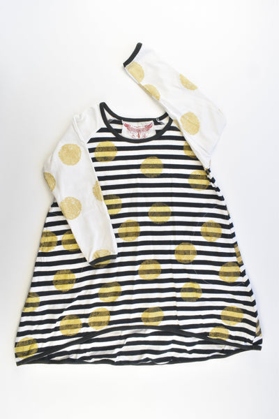 Paper Wings Size 4 Stripes and Dots Dress